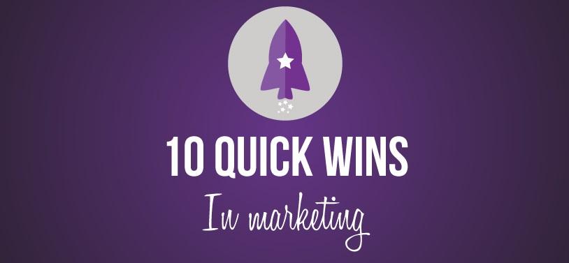 quickwins raket in Marketing