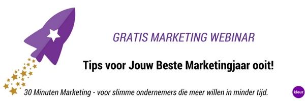 Kennis Webinar Jouw Beste Marketingjaar ooit!
